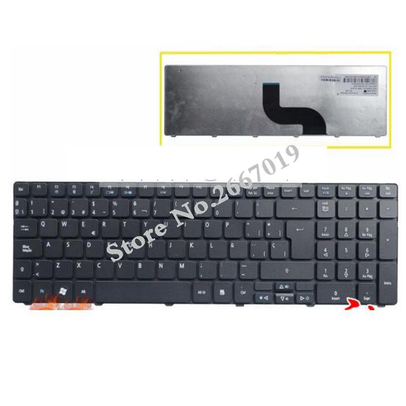 Clavier D'ordinateur Portable espagnol pour Acer pour Aspire 5740 5810T 7735 7551 p5we0 5336 5410 5536 5536G 5738 5738g 5810 5252 5742G 5742Z SP