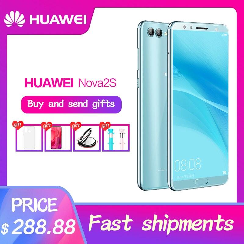 Huawei Nova 2 s Kirin 960 téléphone intelligent 6.0 pouces reconnaissance faciale plein écran 2160x1080 4 caméras Octa Core 20.0MP + 16.0MP 3340 mAh