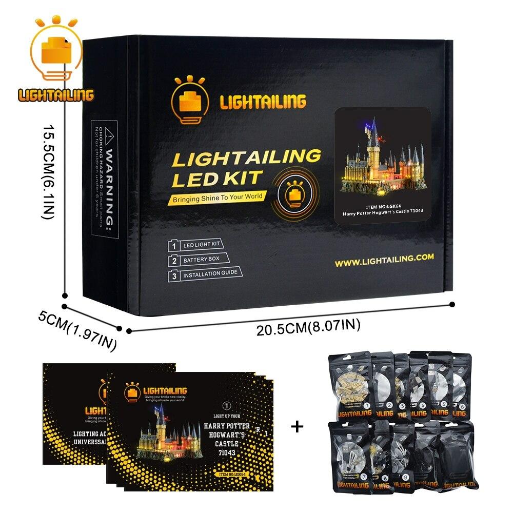 Lightailing lumière led Up Kit Pour Harry Potter Poudlard Château de Lumière Ensemble compatible avec 71043 (Ne Pas Inclure Le Modèle)