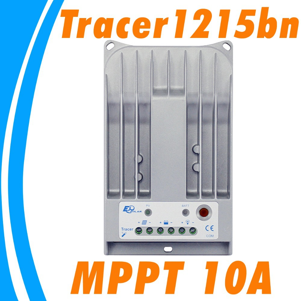 EPSOLAR 10A Solar Controller MPPT 10A Tracer 1215BN Solar Regulador 12V 24V Auto for Home PV System Max 150V Solar Panel Input 2016 new tracer 3215bn max pv input 150v 30a 12v mppt solar charge controller