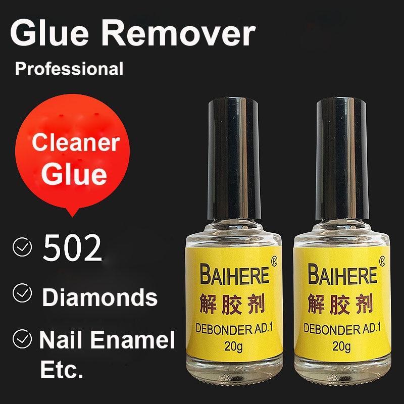 2Pcs Glue Debonder Clean For Super UV Clear Epoxy Resin B7000 B6000 E8000 Foil Nail Polish Enamel 502 Cleaner Cleaning 401 Kit