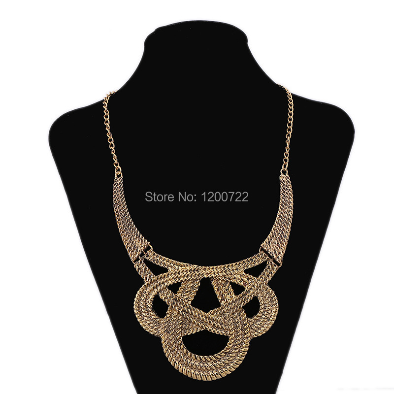 free shipping bowknot shape neckless chunky necklace vintage necklace