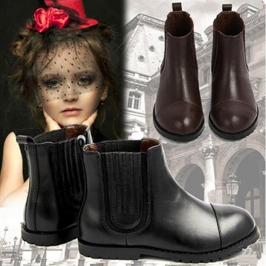 2017 automne enfants bottes coton garçons Geunine cuir enfants bottes chaussures décontractées bébé filles princesse cuir bottes chaussures classiques