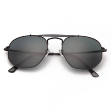Bolo.ban 3648 Hexagonal sunglasses women men 54mm glass lens mirror black round