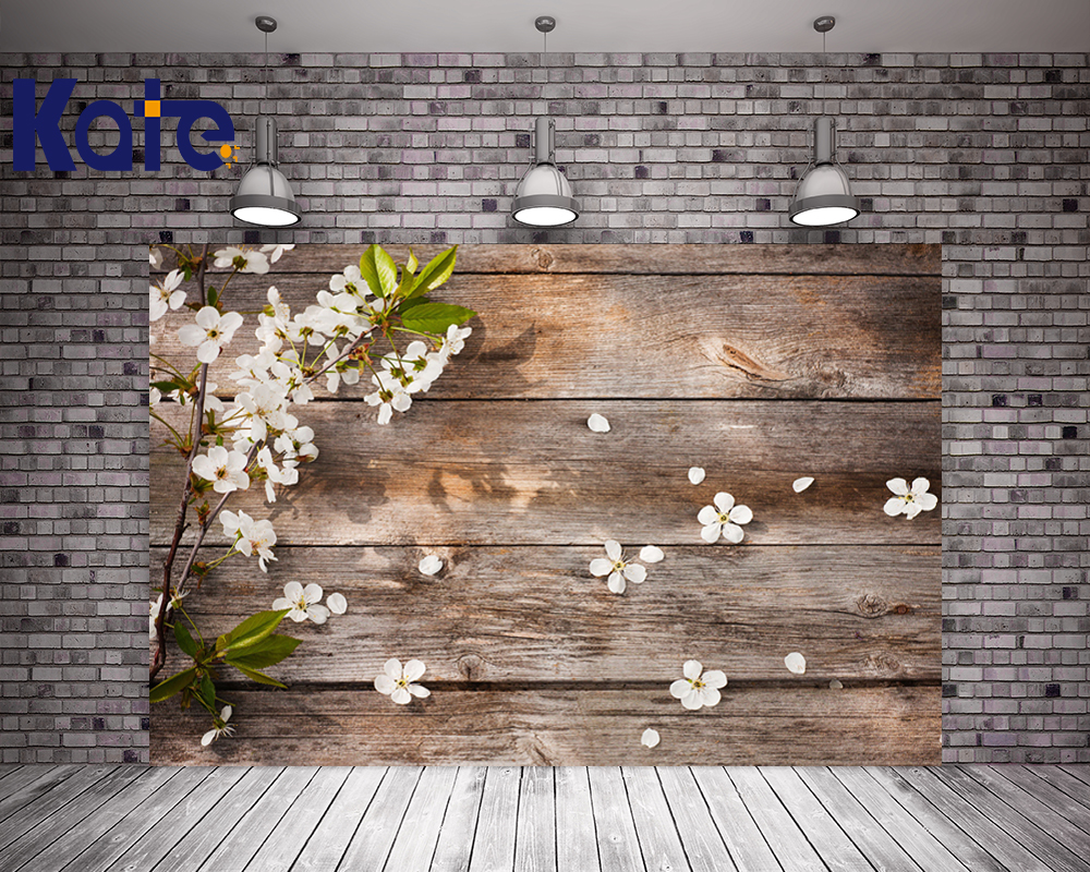 Фото Kate White Flower Floral Background Photography Old Wood Studio Photography Backdrops Romantic Photography Prop Newborn Wooden