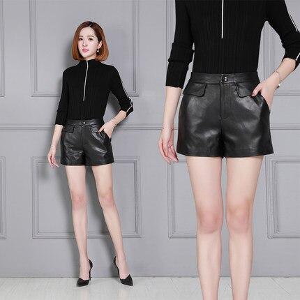Moutons Nouveau Femmes K31 Short Cuir Haute 2019 Taille En wv14Aq6wx
