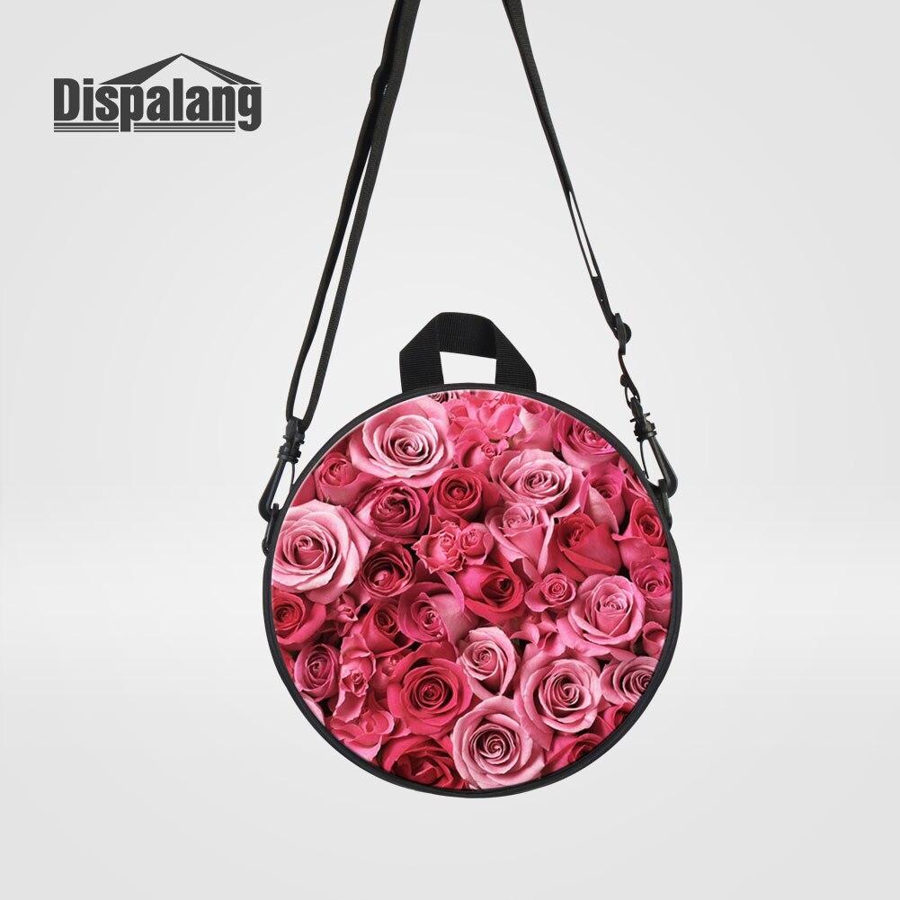 Dispalang Mini Rund Messenger Bags Für Kleine Mädchen Täglichen Handtaschen Rot Rose Druck Crossbody Umhängetasche Für Kindergarten VerrüCkter Preis Kinder- & Babytaschen