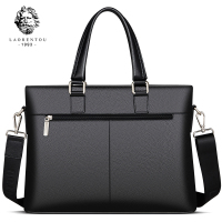 Laorentou Men Crossbody Bags Briefcase Cow Leather Totes Shoulder Bag Work Handbag Bags Brand High Capacity Business Bag 4