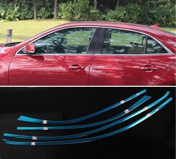 الفولاذ المقاوم للصدأ الخارجي عتبة النافذة غطاء الزخارف ل mazda3 2013 2014 2015 2016 2017 2018 سيارة التصميم