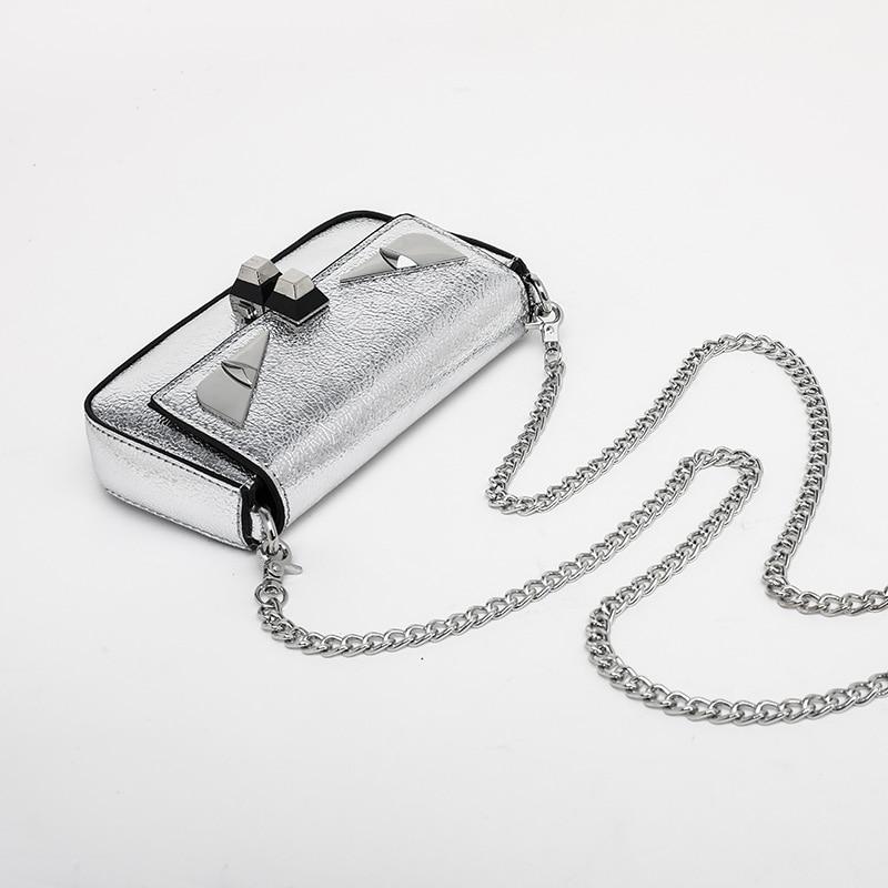 New female chain bag small monster shoulder Messenger bag mini fashion 5