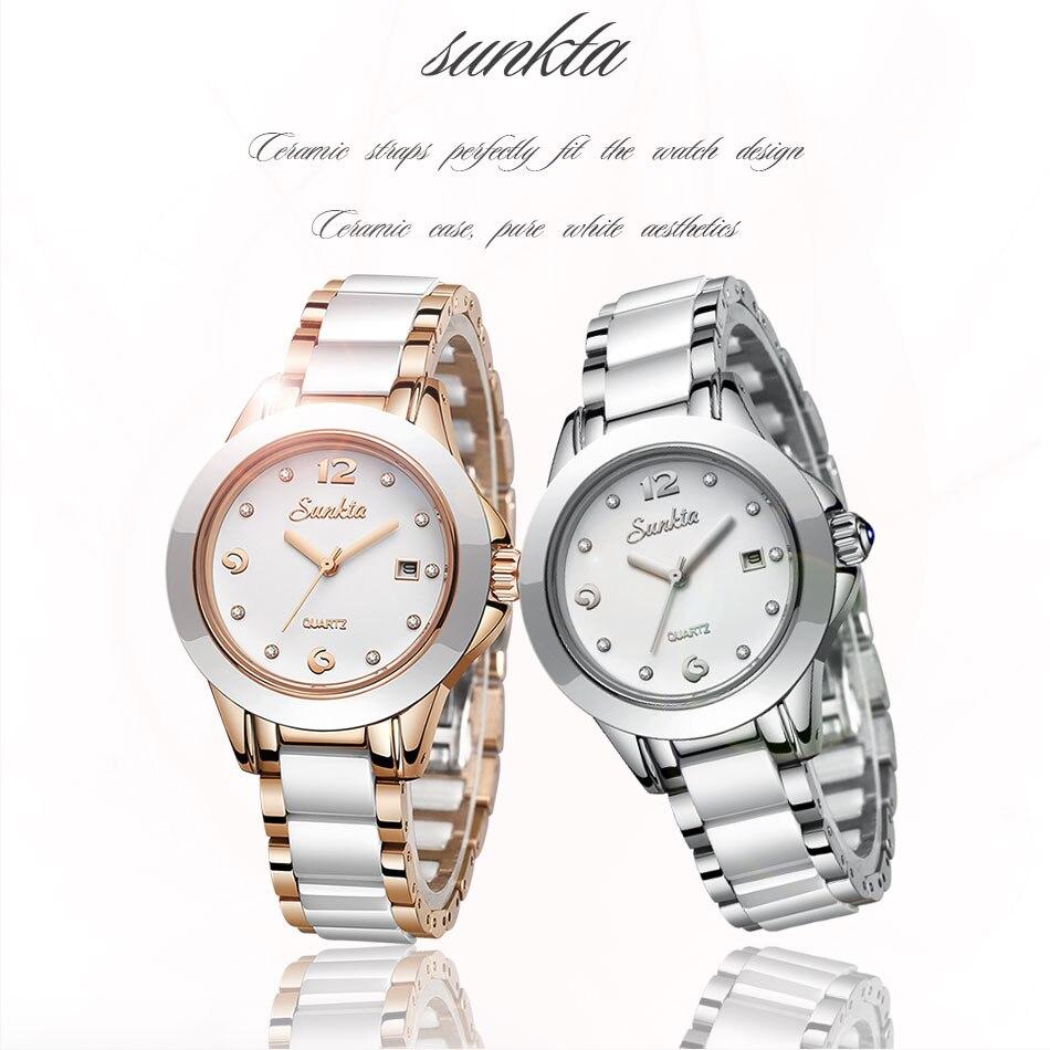 2019 nova sunkta moda feminina relógios prata