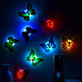 5 PCS Romantic Butterfly Wall Nightlights Night Light Lamp With Suction Pad For Children Christmas Wedding Decoration Lamp