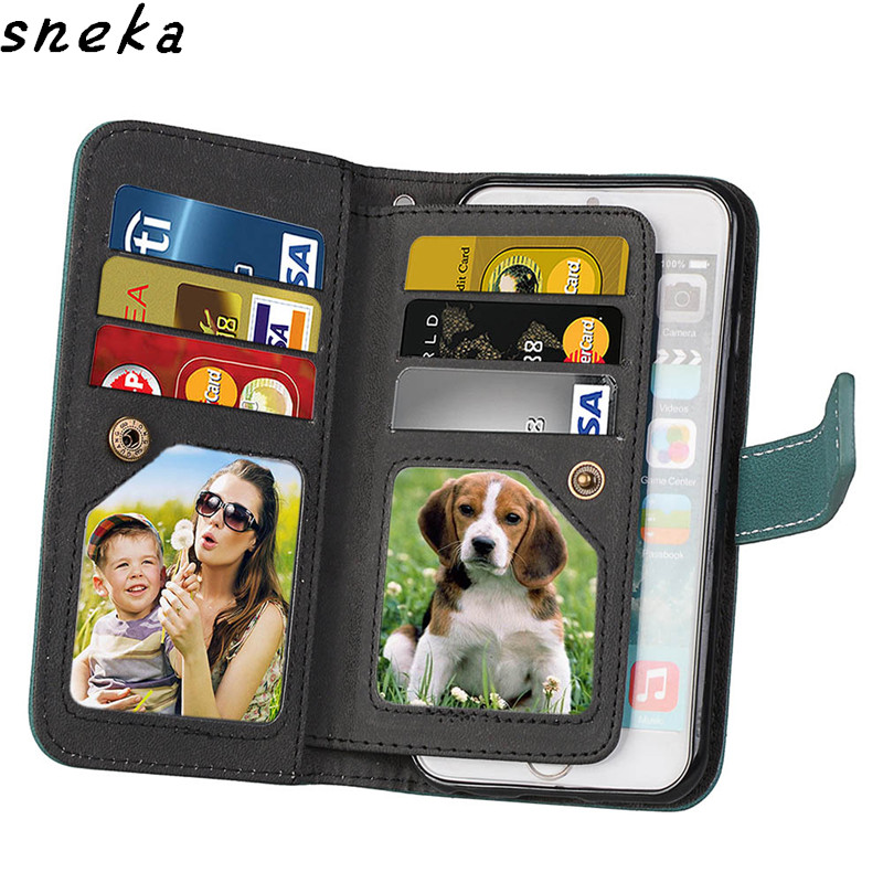 For Apple iPhone 6 Case Luxury leather Flip cover For iPhone 6S Multifunction Nine cards Wallet Protective phone bag for iphone6