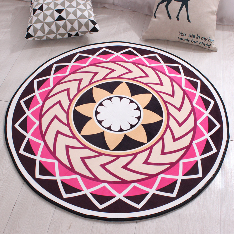 9701419f53 Black Round Carpet Polyester Non-slip Kids Rugs Floor Tapete Computer Round  Rugs For Home Diameters 60 80 100 120cm Mat - us578