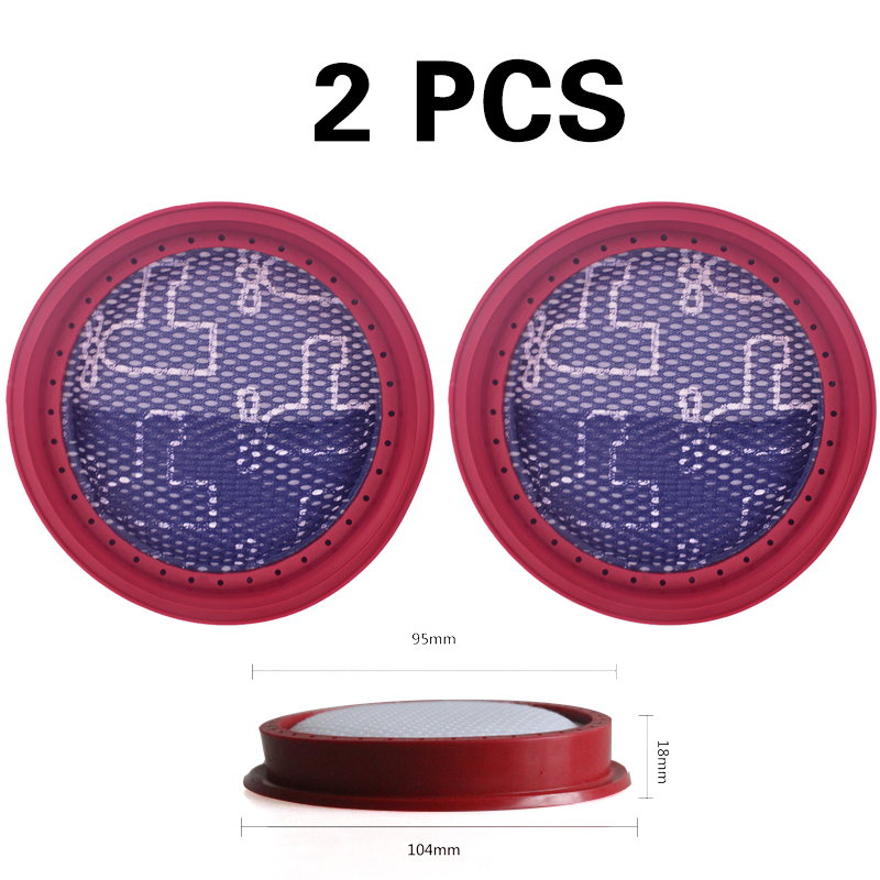 New 2 Piece For Dibea D18 D008Pro Vacuum Cleaner Replacement Washable Filter Parte Filter Replacement Parts
