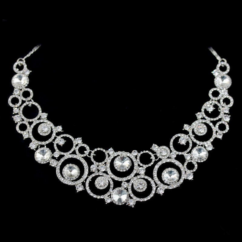 Loyal Very Pretty 925 Silver Set Necklace And Earrings With Rhinestones Lovely Sets Jewellery & Watches
