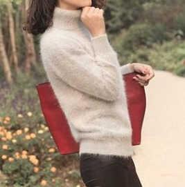 2020 nova malha real mink cashmere pullovers gola alta natural puro mink cashmere suéteres venda quente superior avaliado por atacado fp962