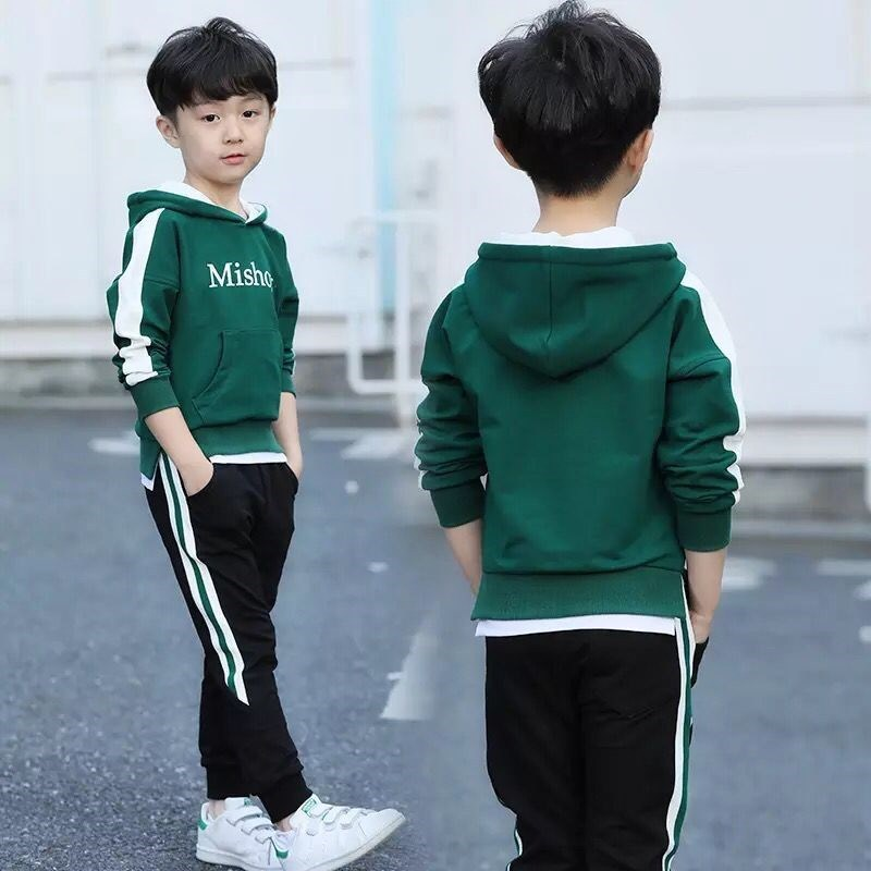 2019 Spring Autumn Big Boys Clothes T-shirt And Pants 2Pcs Cotton Girls Suits Children Clothing Sets Toddler Brand Tracksuits