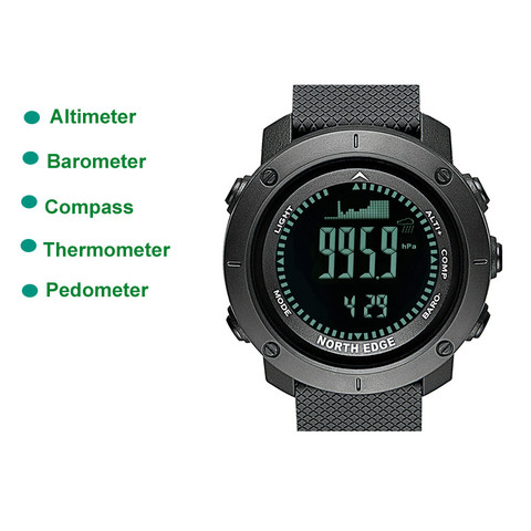 Outdoor Sport Waterproof 50M Men Smart Watches Digitale LED Altimeter Barometer Stopwatch Thermometer Alarm Clock Watch Pakistan
