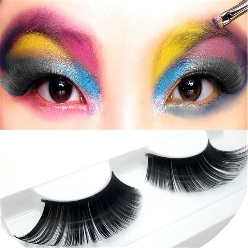 1 pairs Elongated stage art exaggerated false eyelash long acting school false eyelash Makeup Tools KZ01 image