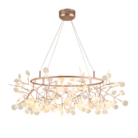 Creative Post Modern Round Dia 80cm LED Chandelier Light 81pcs Firefly Tree Branch Technique Of Conductive
