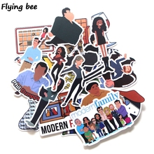 Flyingbee 24 Pcs Modern Family TV Shows Stickers Waterproof Decal Sticker to DIY Laptop Motorcycle Luggage Snowboard Car X0220