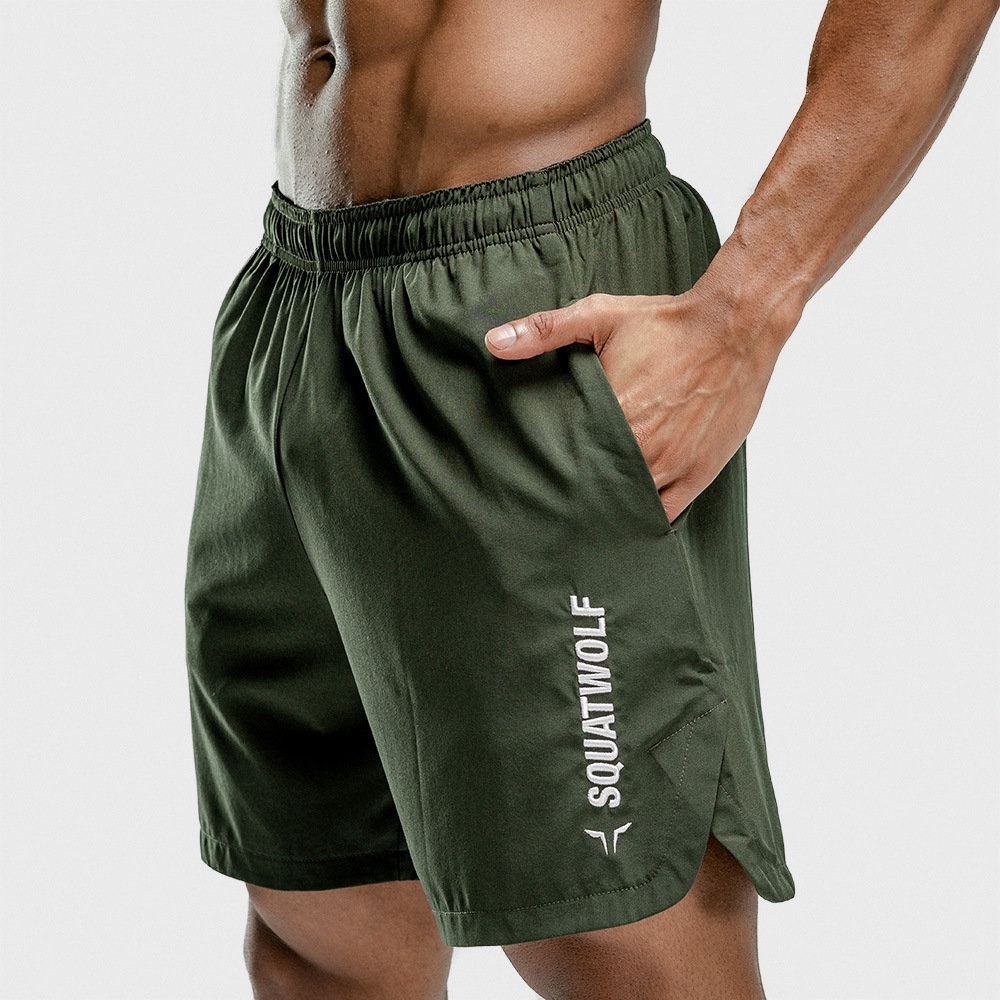 New Fitness Shorts Mens Gyms Loose Short Pants Joggers Workout Thin Quick Dry Beach Shorts Male Summer Casual Crossfit Clothing