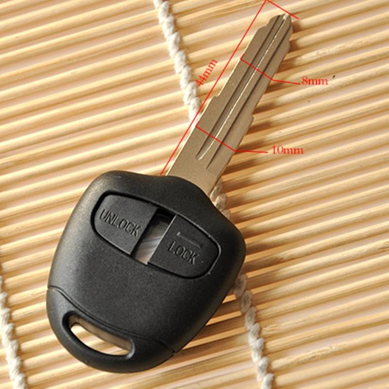 Uncut flat key blade groove on edge for Peugeot 307 308 407 607 807 remote key