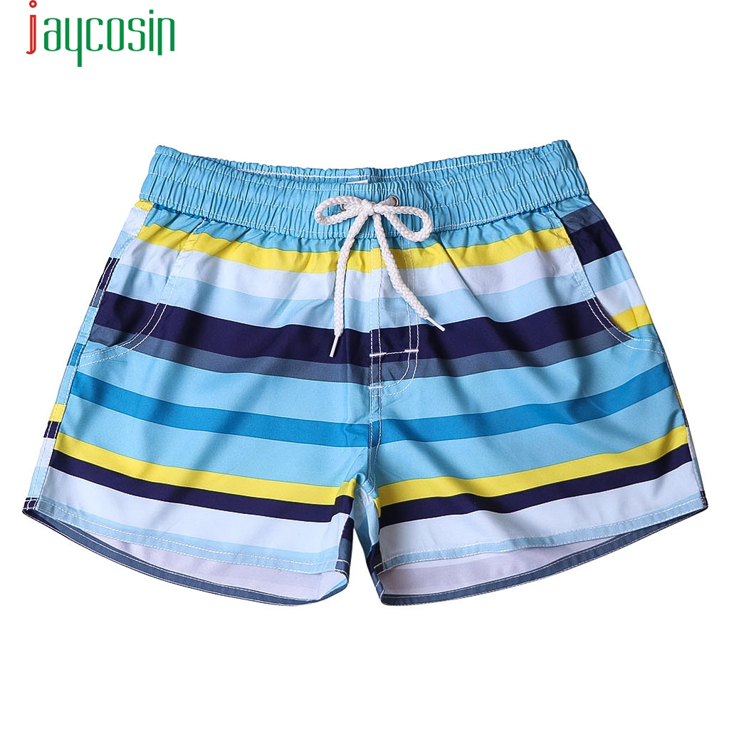 New Fashion Women plus size multicolor stripe Summer   Shorts   Swim Trunks Quick Dry Beach Surfing Running Swimming Watershort #40