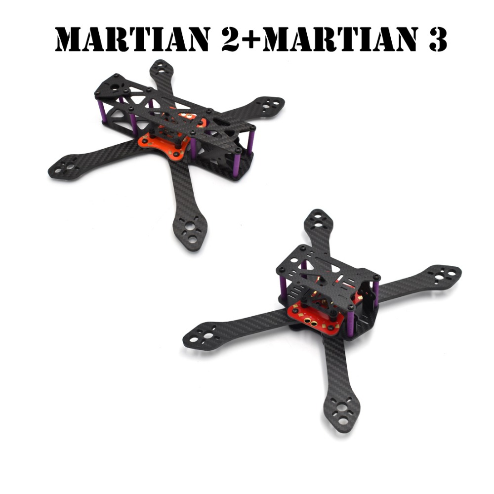 Martian II and Martian III 220 220mm 4mm Arm Carbon Fiber Frame Kit with PDB For FPV RC Cross Racing Drone Quadcopter