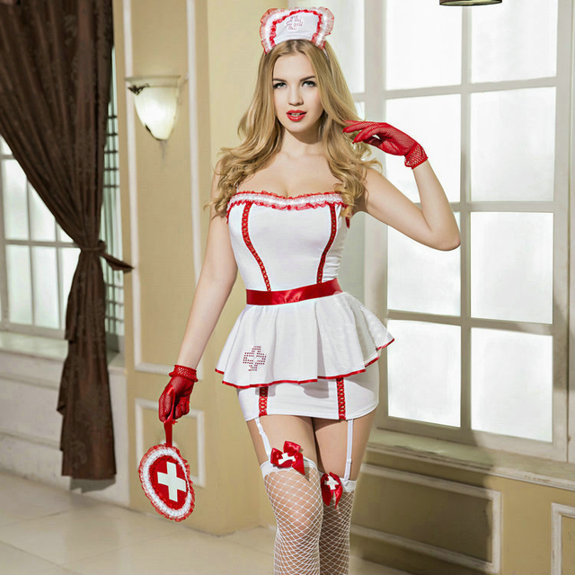 a1e9254534e Sexy Nurse Costume Fancy Naughty Private Personal Care Nurse Halloween  Cosplay Costumes for Women