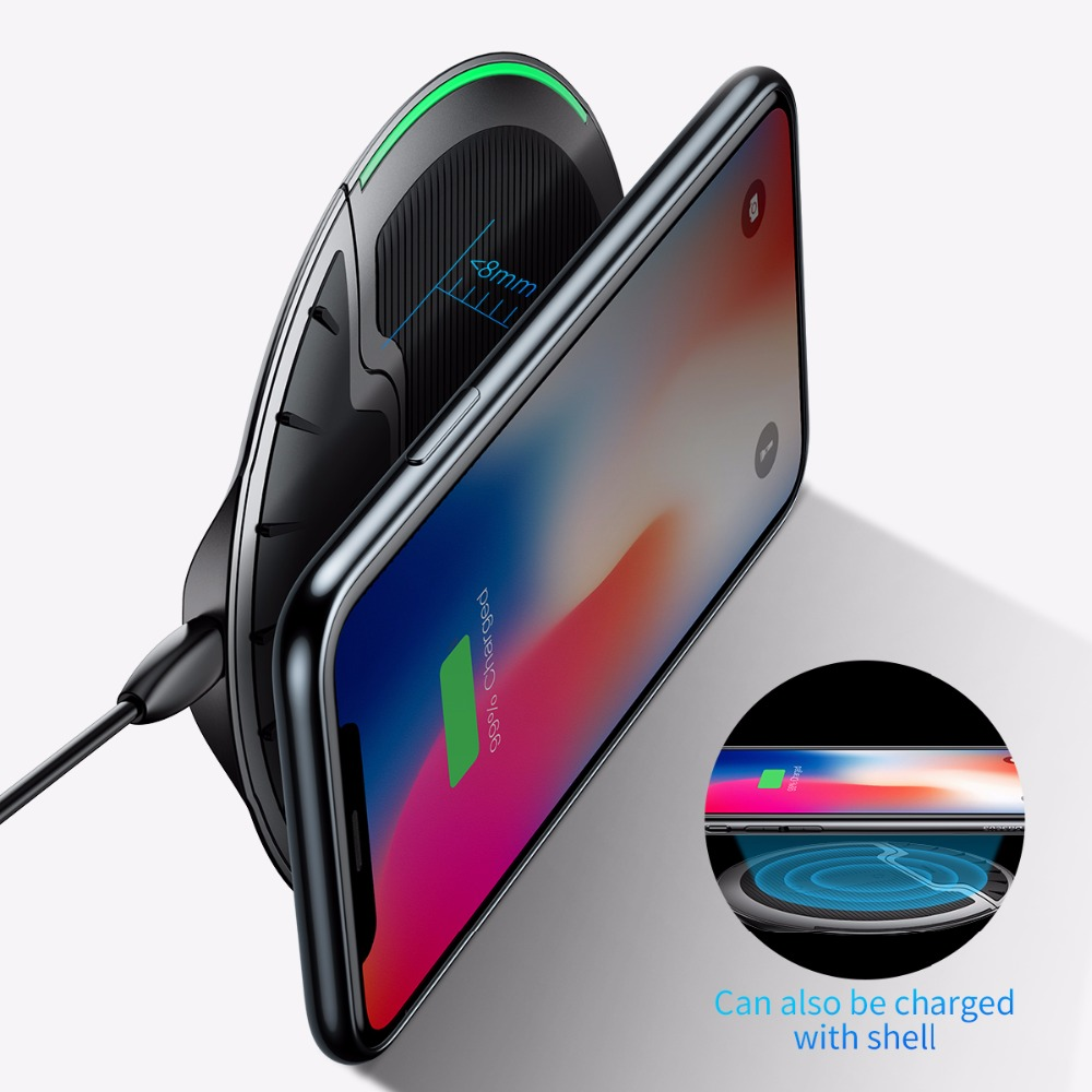 Baseus Collapsible Qi Wireless Charger for iPhone 8/X Multifunction Fast Wireless Charging for Samsung S9/S9+/S8 Huawei Xiaomi 4