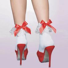 Винтаж Кружево рюшами Оборками носки до лодыжки модные женские ретро классические белые Кружево бантом низкая Носки для девочек довольно Обувь для девочек Носки для девочек