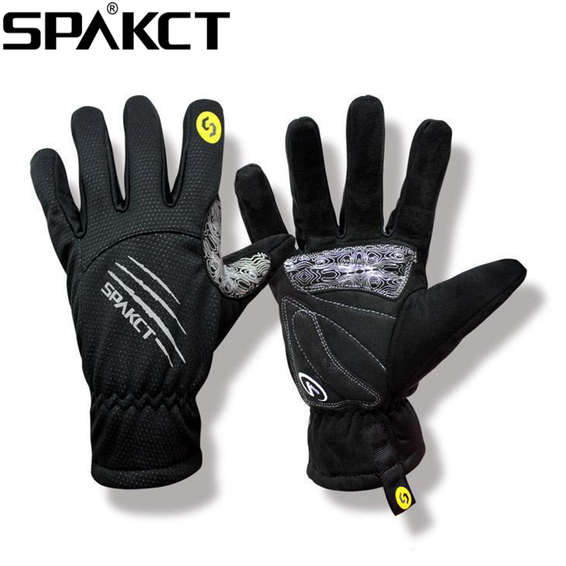 SPAKCT Cycling Winter font b Gloves b font Full Finger Long font b Gloves b font