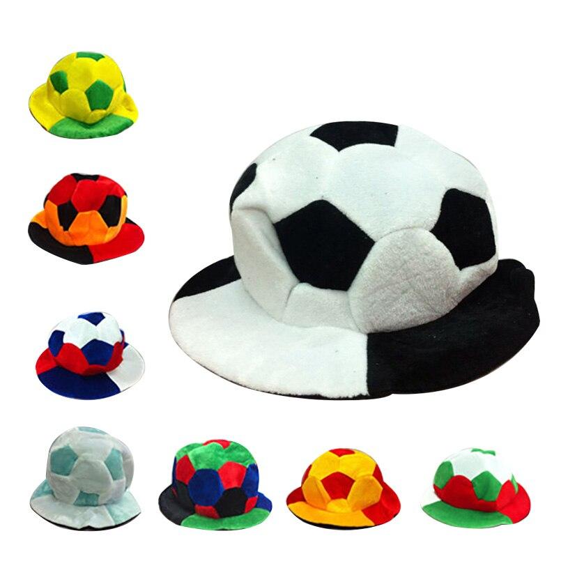 7bf333eb9e2514 World Soccer Football Caps Hats Football Fans Headwear Cheerleading Team  Props Soccer Team Sports Headwear Souvenir