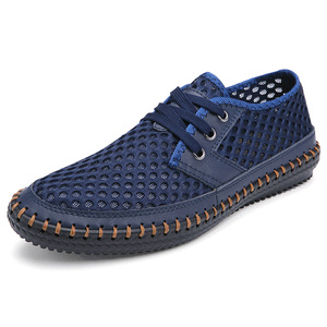 Image 3 - 春夏 2020 通気性メッシュカジュアルホット販売レースアップ Zapatos Hombre 軽量フラットプラスサイズの靴 47s 48s