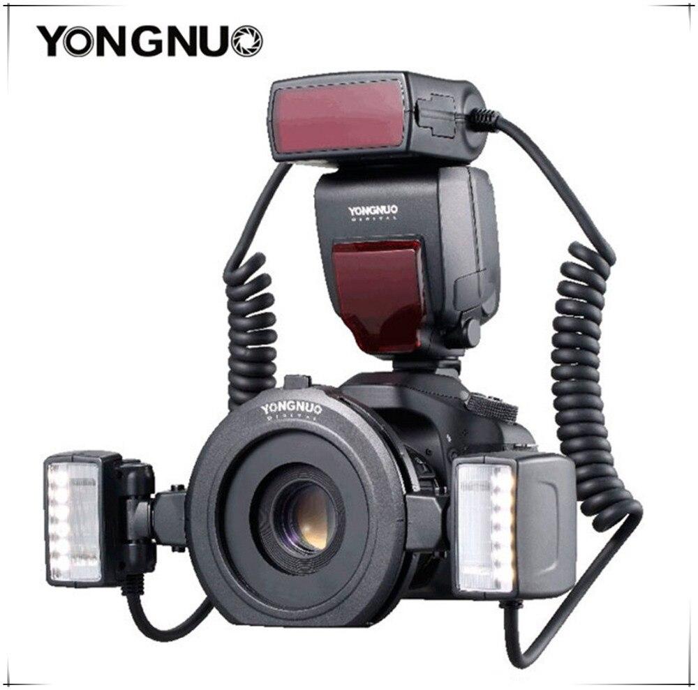 Макросъемка Yongnuo YN24EX, Макросъемка Speedlite, 2 шт., с двойной головкой-адаптером, 2 шт., TTL, Twin Lite