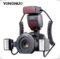Yongnuo YN24EX YN 24EX E TTL Twin Lite Macro Flash Speedlite for Canon Cameras with Dual 2pcs Flash Head + 4pcs Adapter Rings