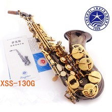 2017 New High-pitched Black Nickel Gold Bb Curved Soprano Saxophone B Sax Musical Instrument Saxophone B Flat for Adult Children