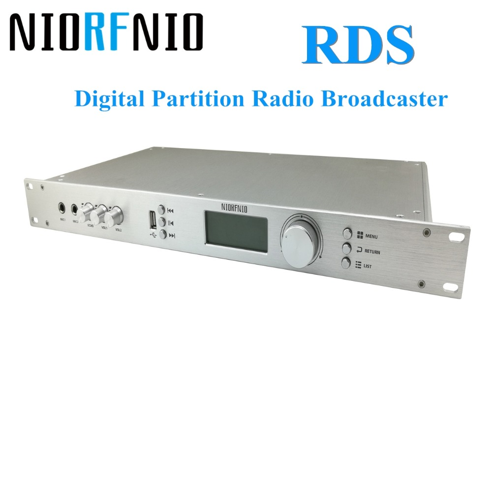 Manufacturer Free Shipping 110V-260V 0-<font><b>50W</b></font> Powerful NIO-T50R <font><b>fm</b></font> pll <font><b>Transmitter</b></font> with RDS Digital Partition Radio Broadcaster image