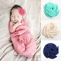 Bonito! 2017 New Soft Fotografia Bebê Recém-nascido Adereços Bebê Dormindo Swaddle Cobertor Do Bebê Roupas de Crochê Para Bebê Infantil Envoltório