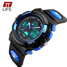 TTLIFE Children's Watches Fashion Sport Military Waterproof Wristwatches Dual Time LED Digital Quartz Watch For Boys Girls Kids