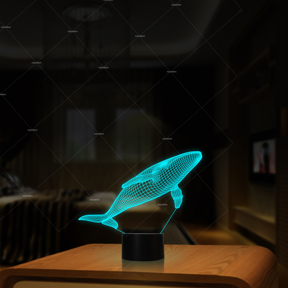 touch Cute animal USB multi color Children Night Light Baby whale Cute Desk Lamps Whale Night Light Baby Animal Bedside lamp