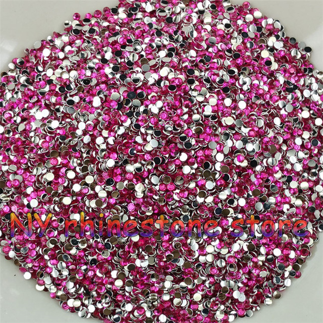 0b4bb58ac8 Aliexpress.com : Buy 10000pcs/bag, SS6,2mm,Rose red color resin crystal  rhinestones,Nail Art,Mobile phone stick drill,Beads,Nails,Applique from ...