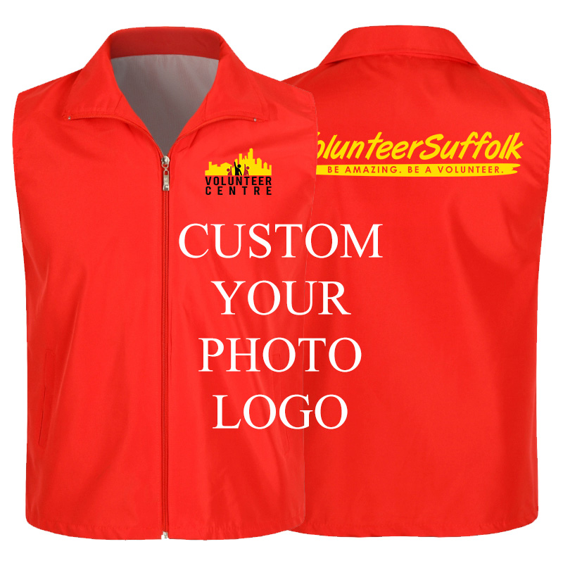 Sleeveless Waistcoat Custom Printed Logo Summer Advertising Campaign Vest Breathable Work Clothes Waistcoat Volunteer Vests