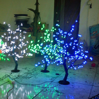 0.8Meter 200LEDS artificial cherry led blossom tree with cheap christmas lights for Asia Free Shipping