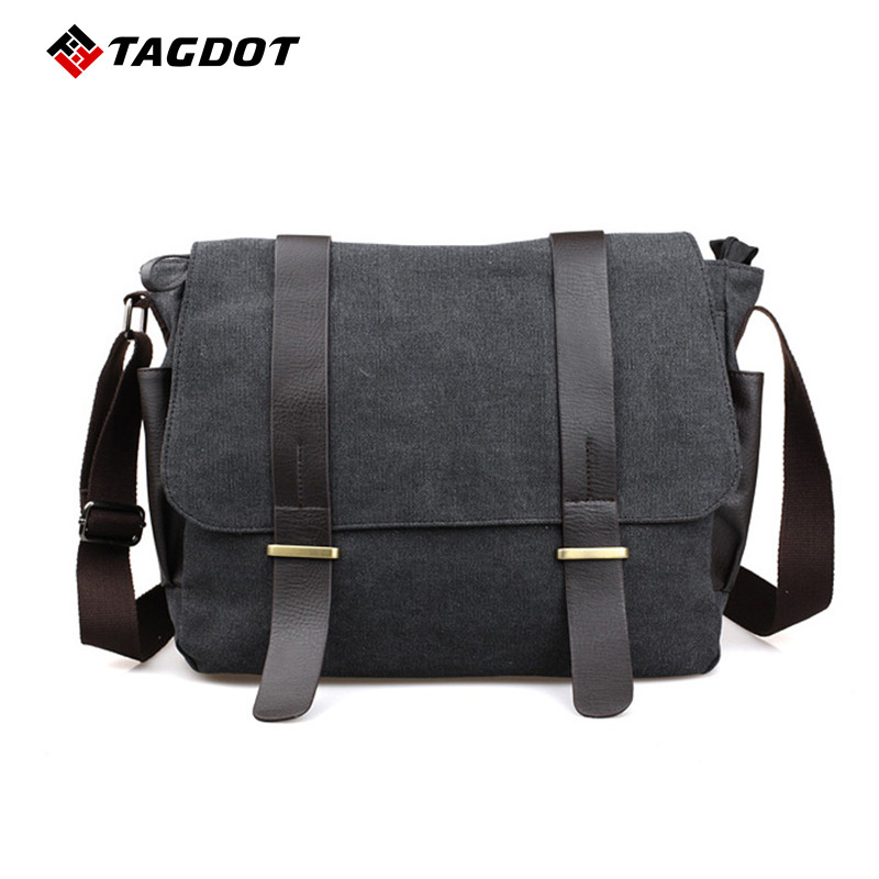 2017 New High Quality Men's Fashion Business Travel Shoulder Bags Men Messenger Bags Casual Retro Canvas Briefcase Men pamaskin 2018 new arrivals casual retro men messenger bags 100
