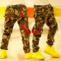 Camuflagem bebés meninos calças personalidade 2015 primavera e outono crianças calça Casual Harem crianças calças dos C05