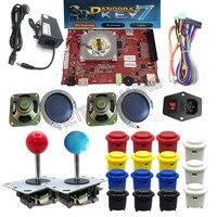 Happ stype arcade game machine DIY kit 3D Pandora 7 upgrade to 2362 in 1 PCB 109pcs 3D games with adapter 5pin joystick button