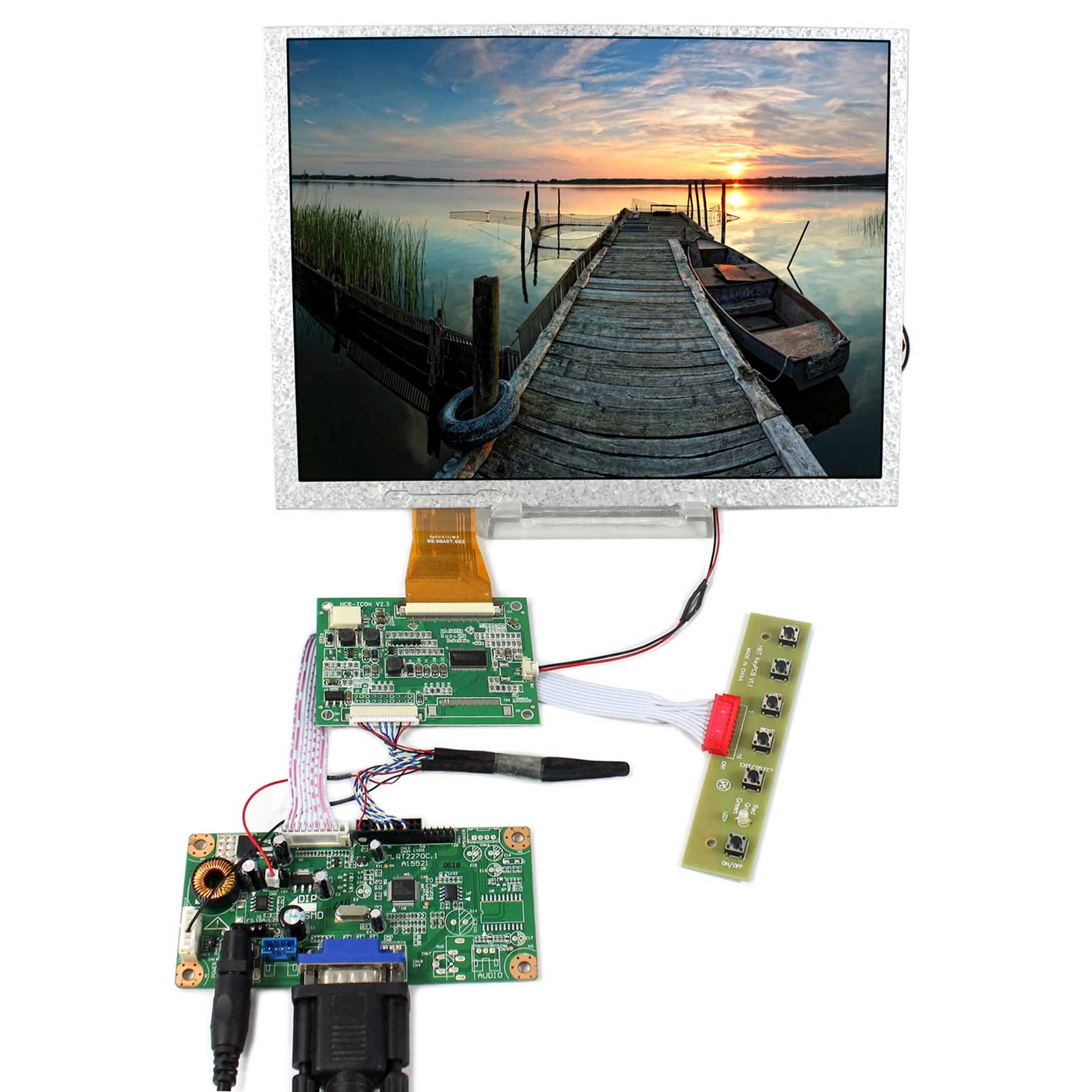 10.4inch A104SN03 800x600 TTL LCD With LVDS to TTL Board With VGA LCD Controller Board RT2270C-A vm70a vga to lvds lcd controller board for mt215dw01 v2 21 5 inch 1920x1080 2ccfl lvds video board free shipping
